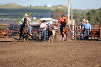 Culbertson Steer Wrestling and Roping Events 6-21-2014